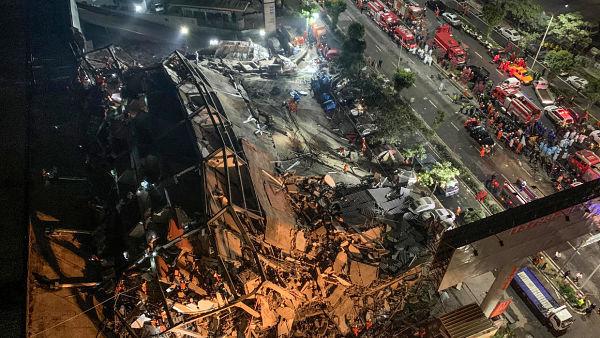 China: Se derrumba hotel usado para infectados con Covid-19